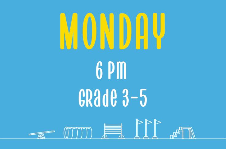 Monday<br> 6pm<br> Grades 3-5 <br> Nicola Wildman – Hydropaws