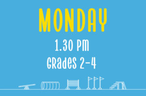 Read more about the article Monday<br> 1.30pm<br> Grades 2-4 <br> Nicola Wildman