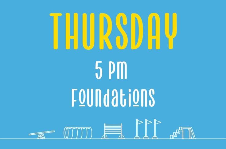 Thursday <br>5pm<br> Foundations<br> Nicola Wildman