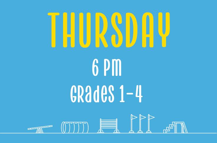 Thursday<br> 6pm<br> Grades 1-4<br> Nicola Wildman