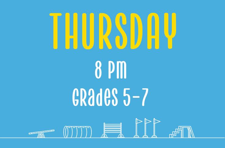 Thursday<br> 8pm<br> Grade 5-7<br> Nicola Wildman